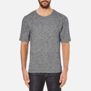 Folk Men's Textured T-Shirt - Navy/White