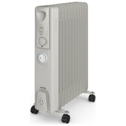 Warmlite WL43005YT 2500W Oil Filled Radiator with Timer - Silver
