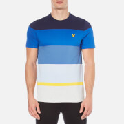 Lyle & Scott Men's Crew Neck Engineered Stripe T-Shirt - Navy
