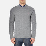 Tommy Hilfiger Men's Cable Knit Jumper - Silver Fog Heather