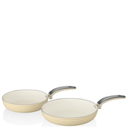 Swan Retro Frying Pans - Cream (20cm/28cm)