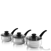 Tower Stainless Steel Saucepans - 16/18/20cm (3 Piece)
