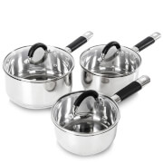 Tower Essentials Pan Set - Stainless Steel (3 Piece)