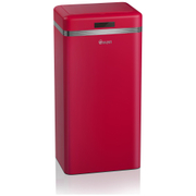 Swan Retro Square Sensor Bin - Red (45L)