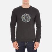 Pretty Green Men's Stretford Applique Sweatshirt - Grey