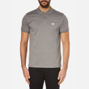 Pretty Green Men's Short Sleeve Polka Dot Polo Shirt - Charcoal