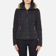 Superdry Women's Ultra Quilt Biker Jacket - Navy