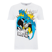 DC Comics Men's Batman Kaboom Whak Woom T-Shirt - White