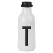 Design Letters Water Bottle - T