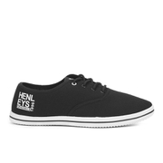 Henleys Men's Stash Canvas Pumps - Black/White