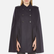 French Connection Women's Platform Felt Poncho - Utility Blue