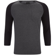 Produkt Men's 3/4 Sleeve Raglan Top - Dark Grey Melange