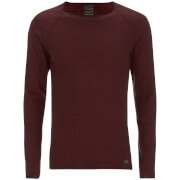 Produkt Men's Twist Knit Crew Neck Jumper - Syrah