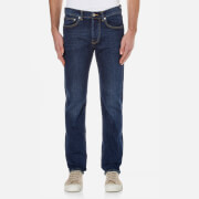Edwin Men's Ed-80 Slim Tapered Red Listed Selvedge Jeans - Blast Wash