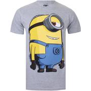 Minions Mens Large Stuart T-Shirt - Grijs Melange