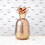 Pineapple Storage Pot/Tumbler - Copper
