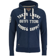Tokyo Laundry Men's Hawk Hills Zip Through Hoody - Dark Navy