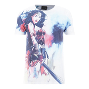 DC Comics Herren Wonder Woman Stencil T-Shirt - Weiß