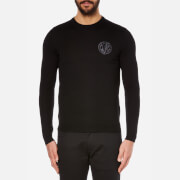 Versace Jeans Men's Chest Logo Crew Neck Jumper - Nero