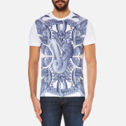 Versace Jeans Men's Printed Crew Neck T-Shirt - Bianco