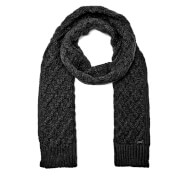 Michael Kors Men's Cable Knit Scarf - Black