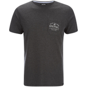 Animal Men's Crafted Back Print T-Shirt - Dark Charcoal Marl