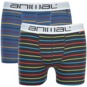 Animal -Homme-Lot de 2 boxers à rayures -Gris
