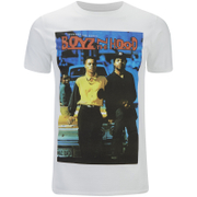 Boys In The Hood Men's Poster T-Shirt - Weiß