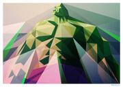 Affiche inspiration Hulk 42cm x 30cm