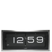 LEFF Amsterdam Brick Wall & Desk Clock - Stainless Steel