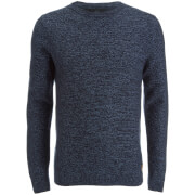 Threadbare Men's Darkwell Gradient Jumper - Rich Navy/Denim