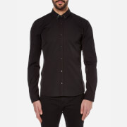 HUGO Men's Ero3 Collar Detail Shirt - Black