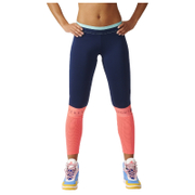 adidas Women's Stella Sport Long Mesh Training Tights - Blue/Pink