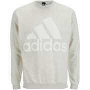 adidas Men's HVY Terry Training Crew Sweatshirt - White