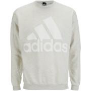 adidas Men's HVY Terry Training Crew Sweatshirt - White