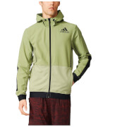 adidas Men's Workout Full Zip Training Hoody - Green