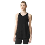 adidas Women's Deep Armhole Training Tank Top - Black