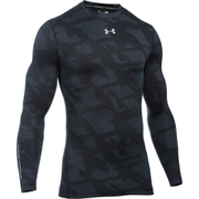 Under Armour Men's ColdGear Jacquard Crew Long Sleeve Shirt - Black/Steel