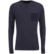 Sweat Brave Soul pour Homme Ween Interest -Marine