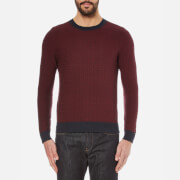 BOSS Orange Men's Kuvudo Textured Knitted Jumper - Dark Blue