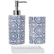Sorema Indigo Bath Bathroom Accessories (Set of 3)