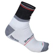 Sportful Gruppetto Wool 13cm Socks - White/Black/Red