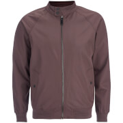 Brave Soul Men's Ellis Raglan Bomber Jacket - Burgundy