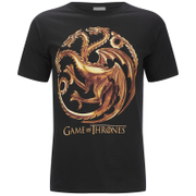 Game of Thrones Mens Targaryen Sigil T-Shirt - Zwart