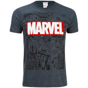 Marvel Mens Mono Comic T-Shirt - Dark Heather