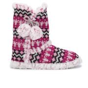 Zapatillas de casa Dunlop Abelle - Mujer - Fucsia