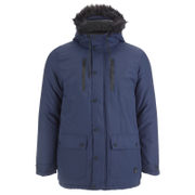 Tokyo Laundry Men's Carmine Hooded Parka Jacket - Midnight Blue