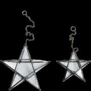 Nkuku Small Glass Hanging Star - Antique Zinc