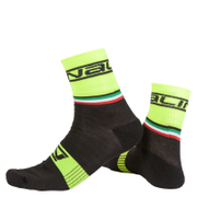 Nalini Salita Socks - Black/Fluro Yellow