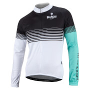 Bianchi Aurino Long Sleeve Jersey - Black/White/Green